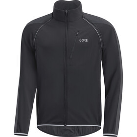 GORE WEAR C3 Windstopper Phantom Zip-Off Jacket Herrer, black/terra grey